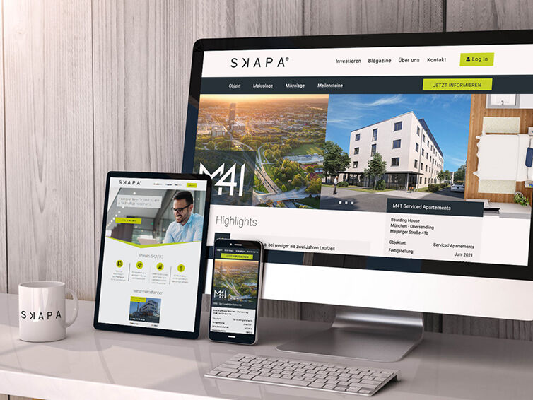 Webauftritt SKAPA Invest